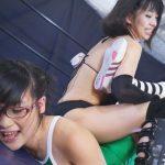 ビッグネームザ・VIP範田紗々 vs インドア系眼鏡っ娘新人ファイター北見えり 女子プロレス対決!